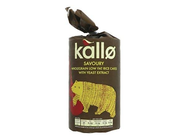 Kallo  Savoury Rice Cakes - Organic