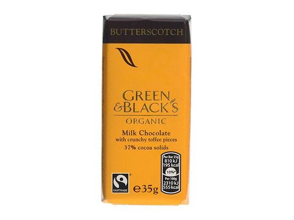 Green & Blacks  Milk Chocolate Bar - Butterscotch