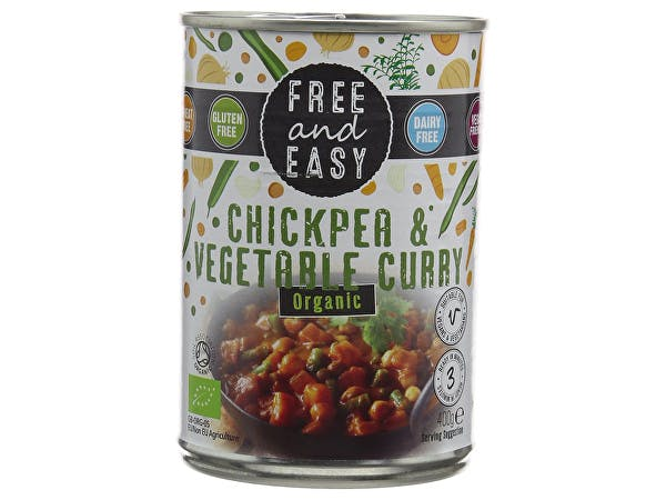 Free & Easy  Chickpea & Vegetable Curry