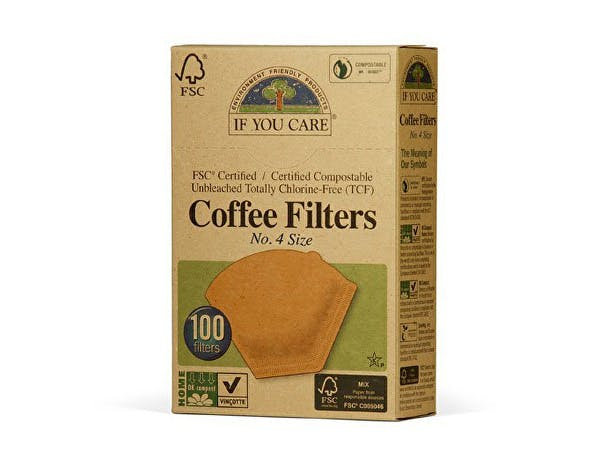 If You Care  Coffee Filters No.4 - Large Unbleached
