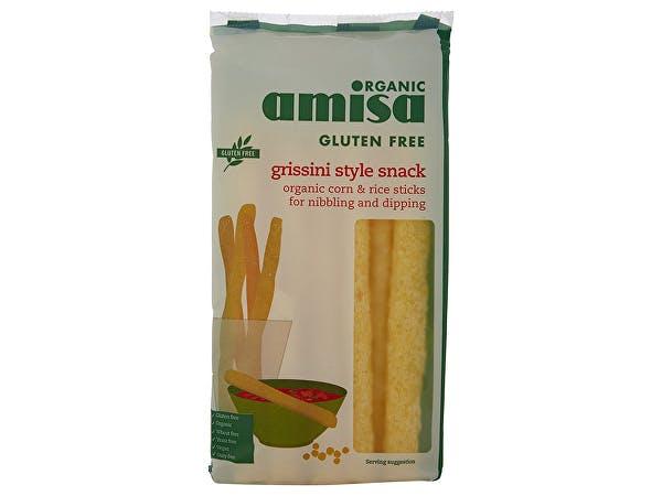 Amisa  Corn & Rice Grissini - Organic