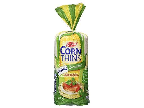 Real Foods  Sesame Corn Thins