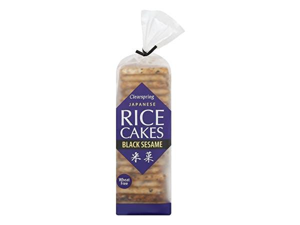 Clearspring  Japanese Black Sesame Rice Cakes - Organic