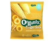 Organix  Golden Sweetcorn Rings (7+)