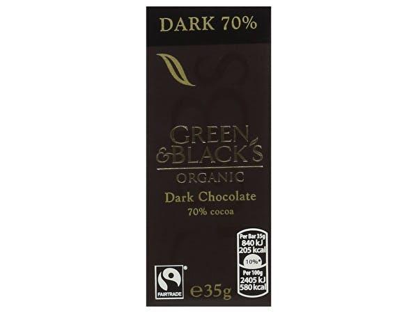 Green & Blacks  Dark Chocolate Bar - 70% Cocoa