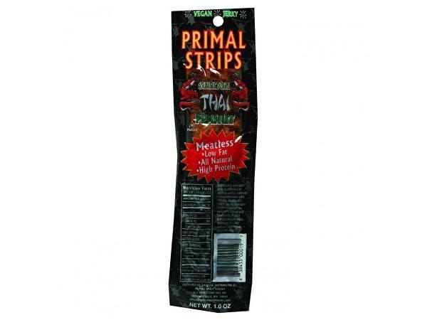 Primal  Meatless Vegan Jerky - Thai Peanut Seitan