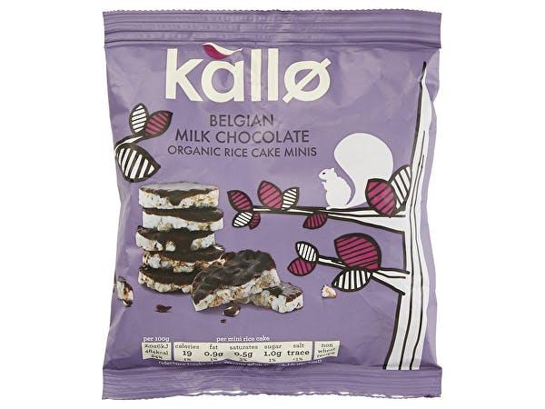 Kallo  Belgian Milk Chocolate Mini Rice Cakes