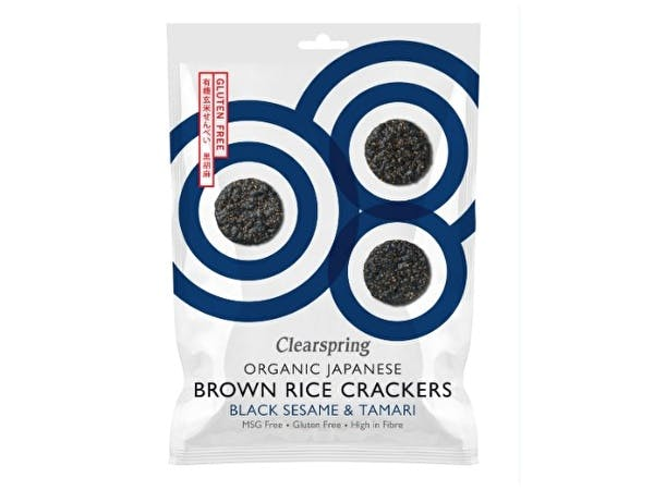 Brown Rice Crackers - Black Sesame