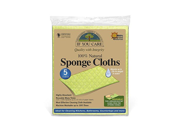 If You Care  Cellulose & Cotton Natural Sponge Cloths