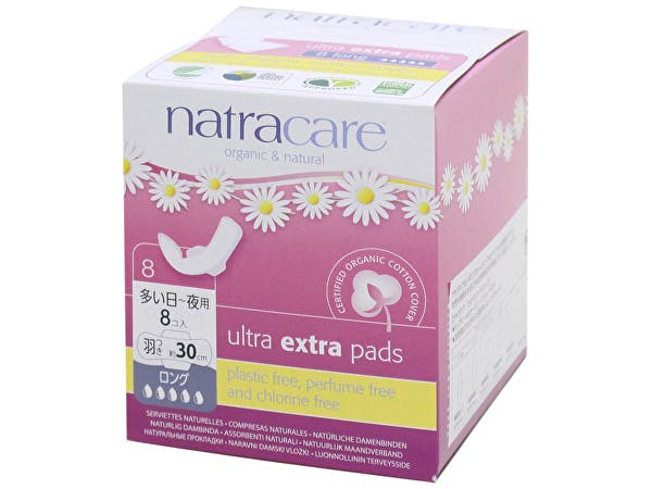 Natracare  Ultra Extra Pads With Wings - Long