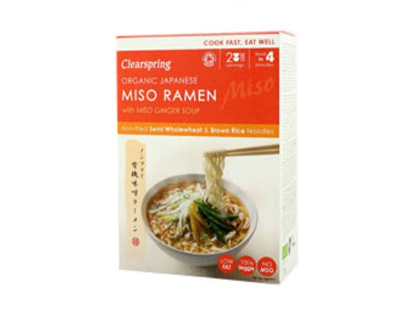 Clearspring  Japanese Miso Ramen Noodles & Miso Ginger Soup