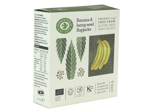 Doves Farm  Free From Banana & Hemp Seed Flapjack Multipack