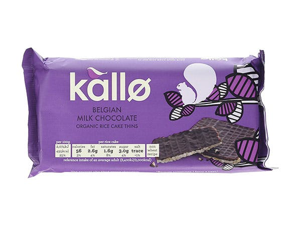 Kallo  Milk Chocolate Thins - Organic Rice Cakes