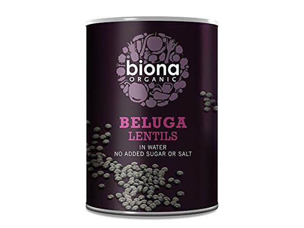 Biona  Black Beluga Lentils no BPA in can