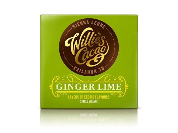 Willies  Dark Chocolate With Ginger & Lime
