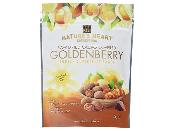 Natures Heart  Raw Chocolate Covered Golden Berries